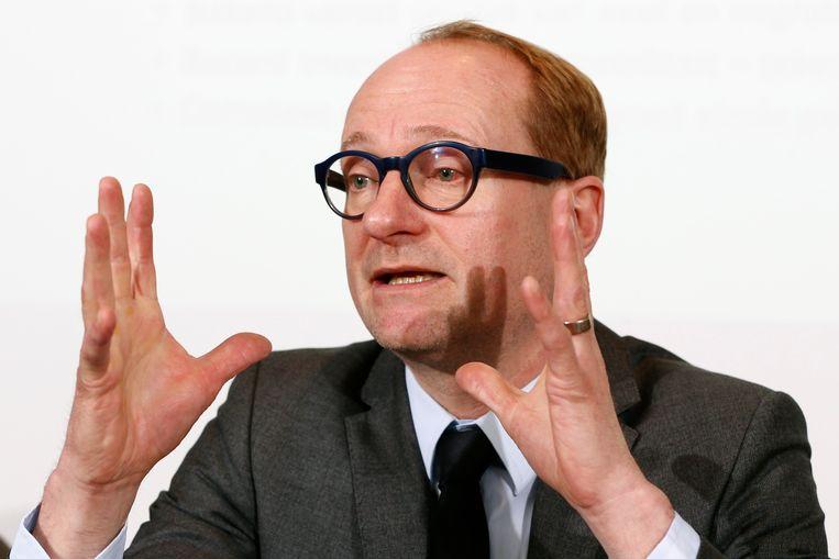 Vlaams minister Ben Weyts tijdens de voorstelling van de topkandidaten van de N-VA in Vlaams-Brabant voor de verkiezingen op 26 mei.