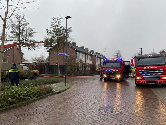 Niemand raakte gewond bij de brand