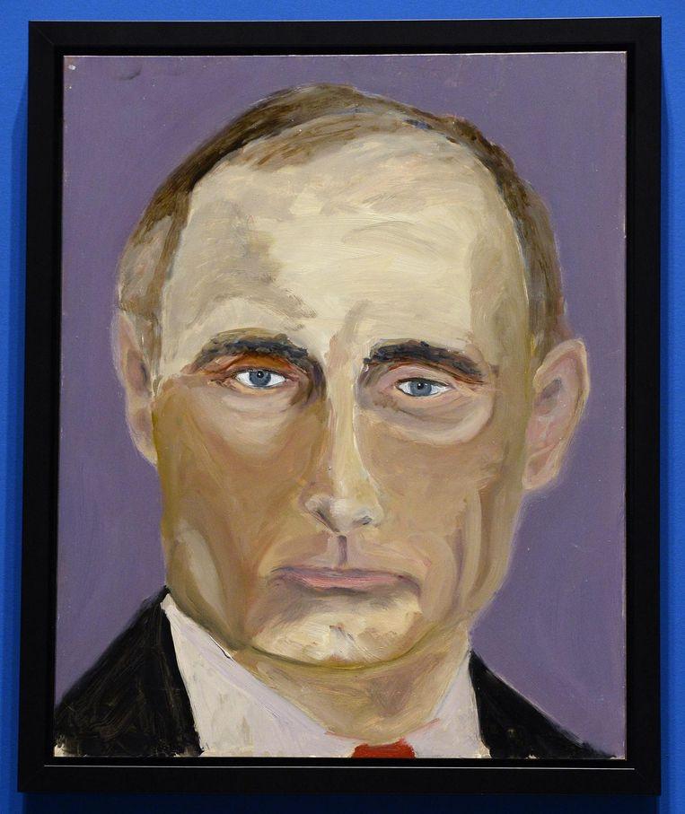 De Russische leider Vladimir Poetin. De stevige toets en invloed van Freud is hier overduidelijk aanwezig. Beeld epa