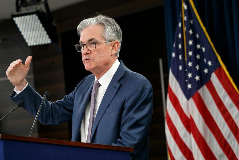 Jerome Powell van de Fed liet weten de nu geldende inflatiedoelstellingen los te laten. Beeld AP