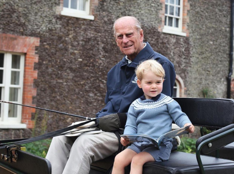 Prins Philip en prins George Beeld The Duchess of Cambridge
