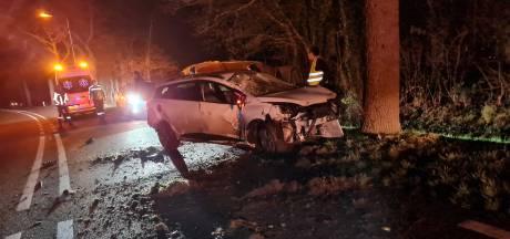 Automobiliste klapt op boom in Paasloo: slachtoffer naar ziekenhuis gebracht
