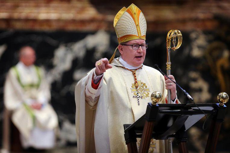Kardinaal Eijk tijdens een viering in de Sint-Pietersbasiliek in Rome. Beeld anp