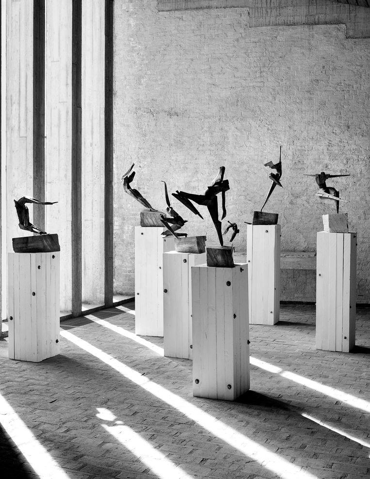 Choreography of the Origins, een voorstudie van Cremers sculptuur Origins, in brons. Beeld Maarten Kools