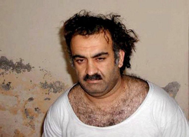 Khalid Sheikh Mohammed en vier anderen zijn bereid zich schuldig te verklaren voor de aanslagen van 11 september. Foto EPA Beeld