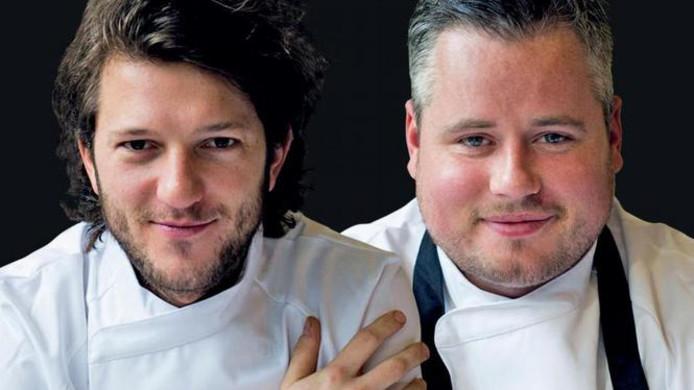 Chefs Freek van Noortwijk en Guillaume de Beer serveren drie kleine aardappelgerechtjes