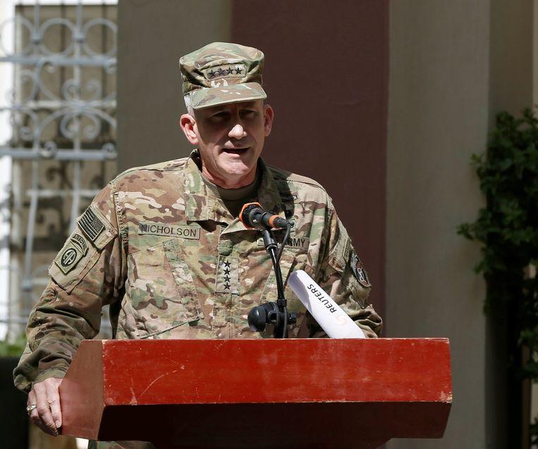 John Nicholson, opperbevelhebber van de Amerikaanse en NAVO-troepen in Afghanistan.