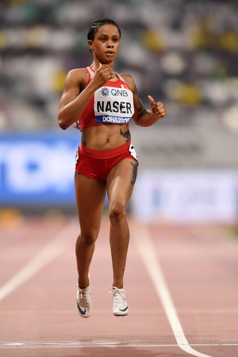 Atlete Salwa Eid Naser uit Bahrein. Beeld Hollandse Hoogte / AFP