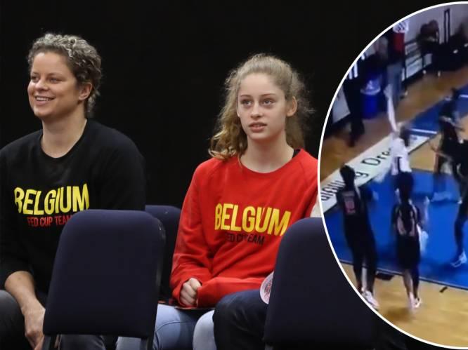 """Dochter van Kim Clijsters schittert in de basketzaal: """"Mijn 'klein' meisje kent de moves"""""""