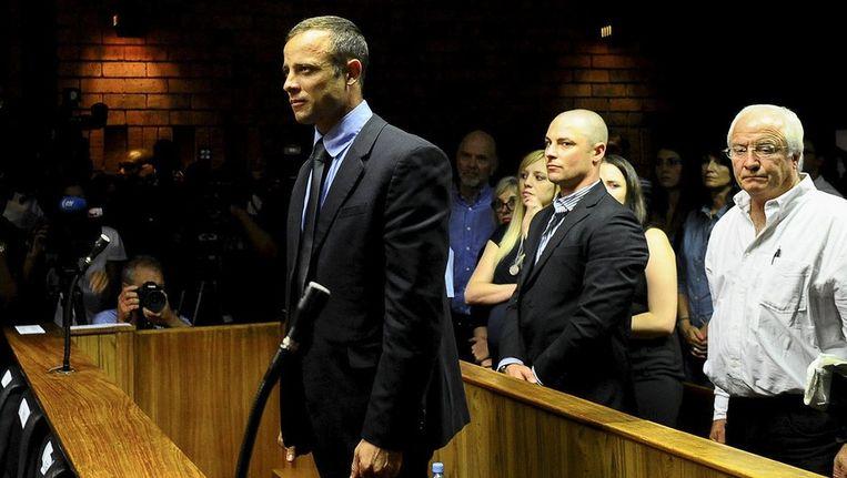 Pistorius bij de rechtbank in Pretoria. Beeld epa