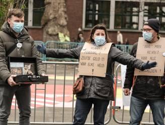 """Zorgpersoneel voert actie: """"Eén virus, één premie, we verdienen een gelijk respect en dezelfde waardering"""""""