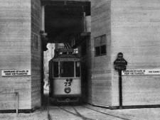 Fraai was het niet, die tram onder de Domtoren in 1930. Maar het kon niet anders
