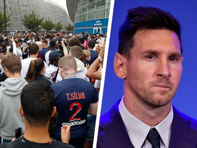 PSG-fans wachten op de luchthaven tevergeefs op Messi.