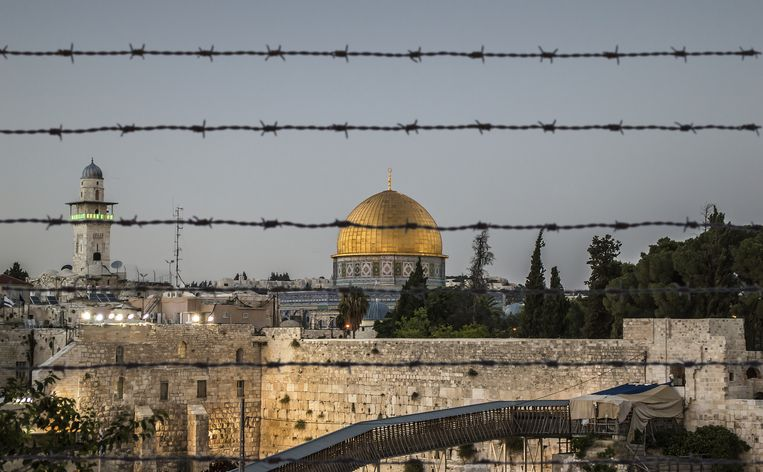 Zicht op Jeruzalem en de Rotskoepel op de Tempelberg.