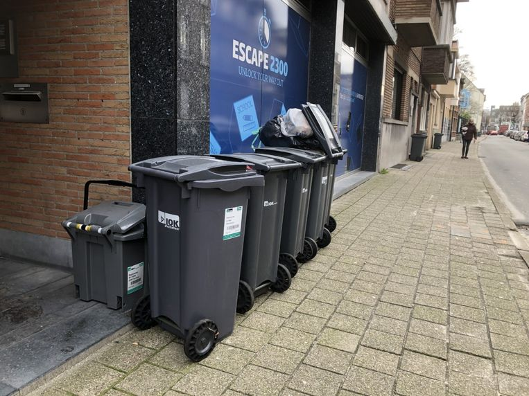 In Turnhout bleef het afval gewoon staan.