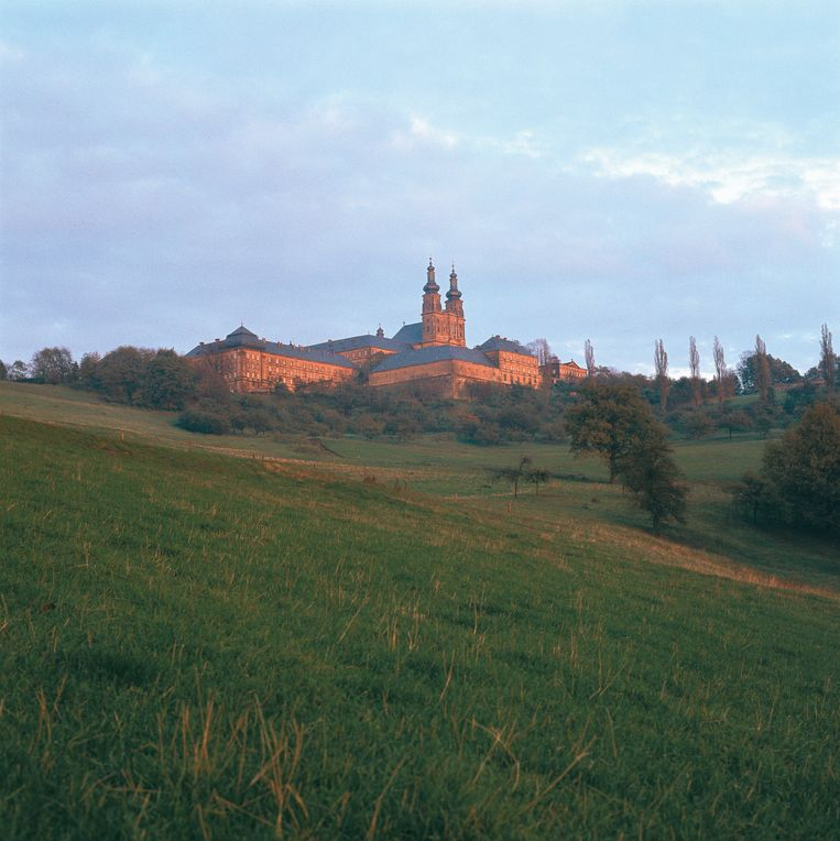 Benedictijner klooster in de heuvels bij Bamberg.  Beeld Getty Images