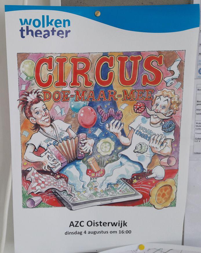Circus Doe Maar Mee van het Wolkentheater toert langs de azc's