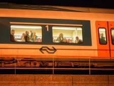 Delft zwaait laatste trein op spoorviaduct uitbundig uit