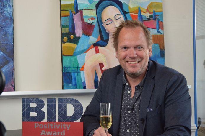 Directeur Ricardo Eshuis van SVH bij de uitreiking van de BID Awards 2021 in Den Haag