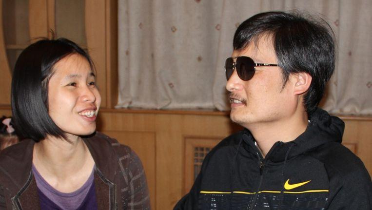Chen Guangcheng en Zeng Jinyan. Beeld ap