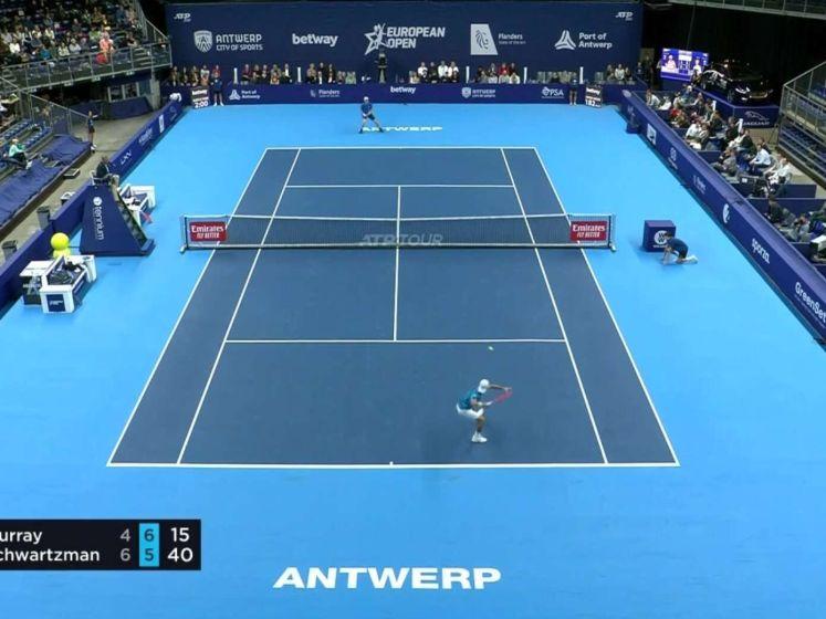 Schwartzman via Murray naar kwartfinale in Antwerpen