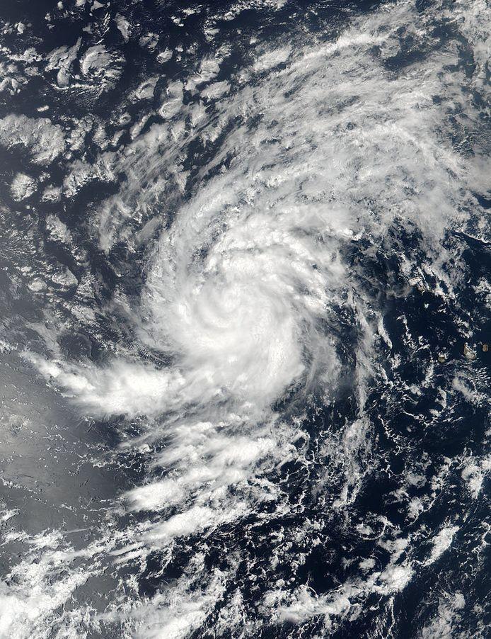 Satellietbeeld van orkaan Irma.