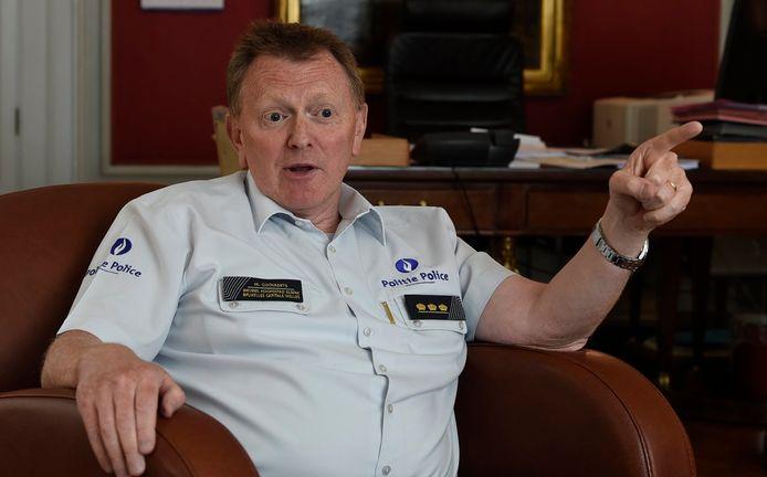 Le chef de corps Michel Goovaerts, ce mardi à Bruxelles