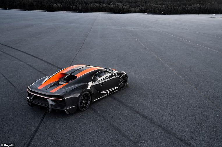 De record-auto van Bugatti. Beeld Bugatti