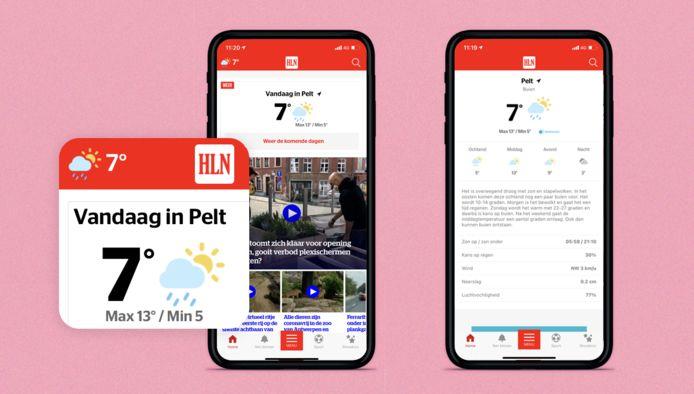 Check vanaf nu het Weer in jouw HLN-app