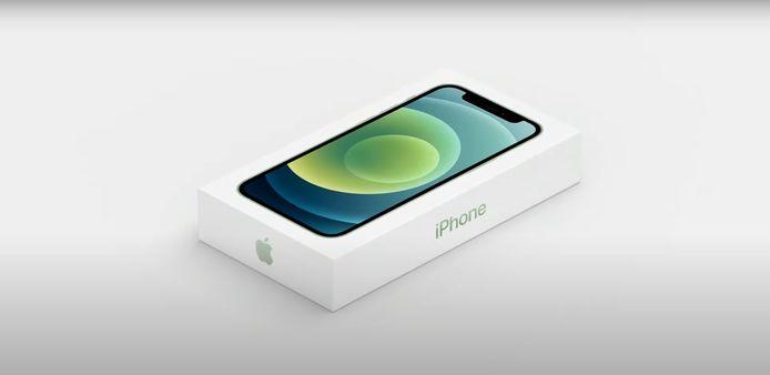 De nieuwe verpakking van de iPhone 12.