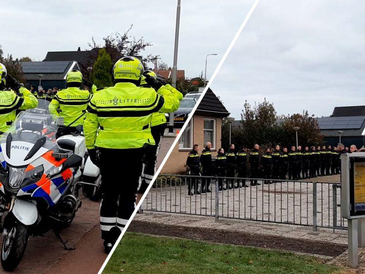 Agenten bewijzen overleden jeugdagent Hardenberg laatste eer