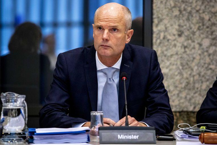 Minister Stef Blok van Buitenlandse Zaken bij het notaoverleg over de relatie tussen Nederland en China.  Beeld ANP