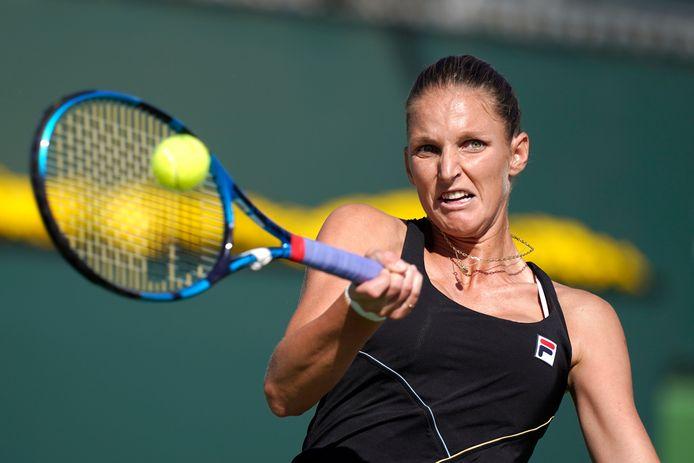 Karolina Pliskova nam het in de derde ronde op tegen Beatriz Haddad Maia.