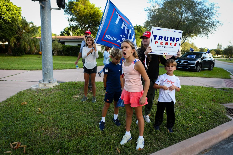 Trump-aanhangers in Miami. Beeld AFP