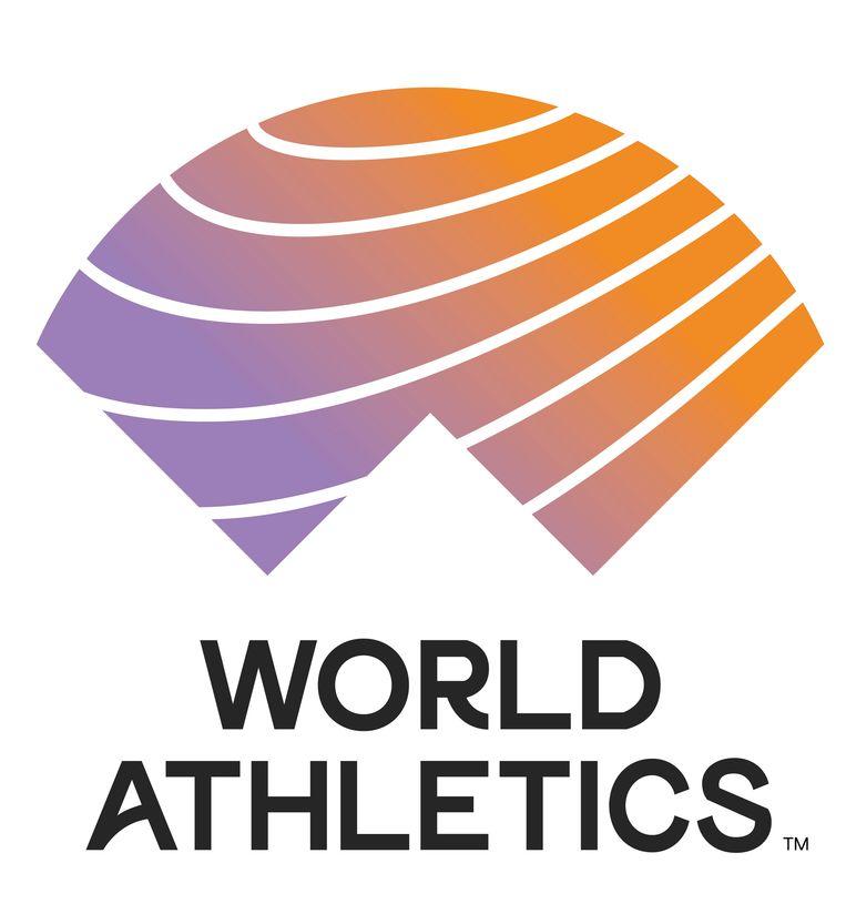 Het nieuwe logo van World Athletics bestaat uit drie elementen: de W van World, een winnaar die zijn/haar armen in de lucht steekt en de A van atletiek. Beeld rv