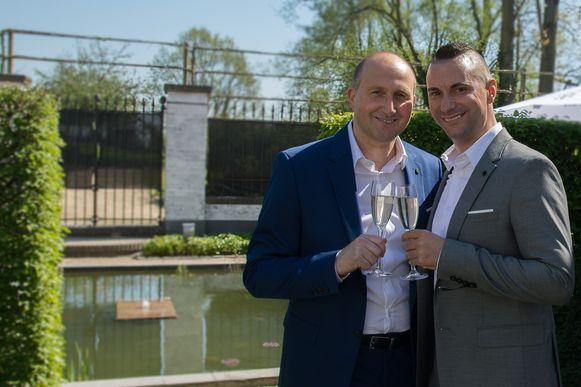 Yves Segers met zijn echtgenoot Tom