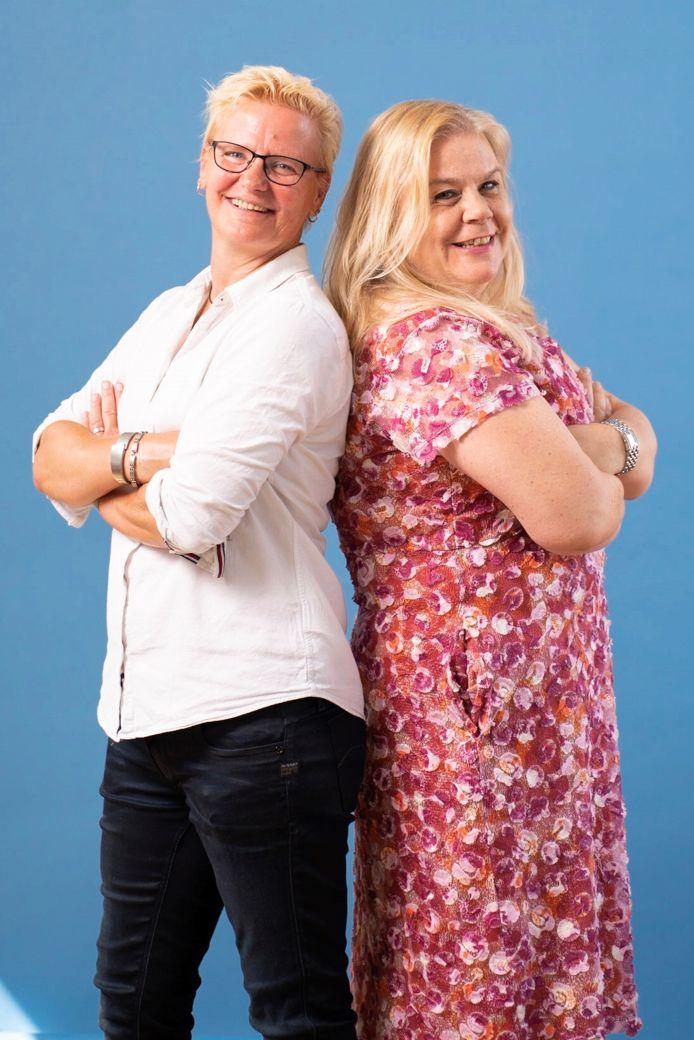Sandy Kardolus (links) en Carolien Kruijs.