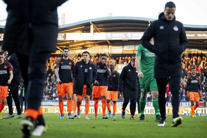 PSV druipt af na de 2-1 nederlaag in Tilburg vorig seizoen.