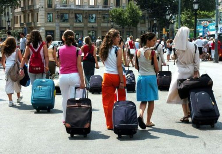 Toeristen in Barcelona. EPA Beeld