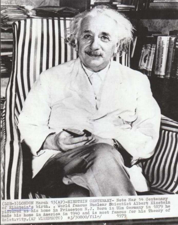Albert Einstein gaf in het voorjaar van 1923 een lezing op het Philips-NatLab in Eindhoven. foto AP
