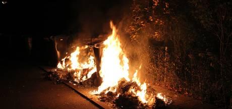 Kliko's en schutting in brand in Tiel