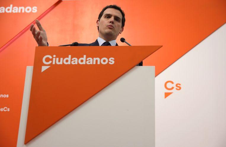 Albert Rivera van Ciudadanos wil zo snel mogelijk nieuwe verkiezingen.