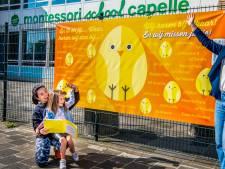 Leerlingen van de Montessorischool voor één keertje weer even naar school: 'We missen ze'
