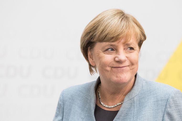 Duits bondskanselier Angela Merkel (CDU). Beeld Getty Images
