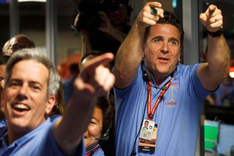 NASA viert de succesvolle landing van Curiosity. Beeld reuters