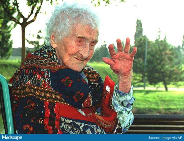 De Française Jeanne Calment stierf in 1997 na een leven dat 122 jaar en vijf maanden had geduurd.