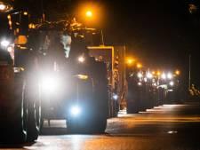 Drukste ochtendspits ooit door tractoren op snelwegen