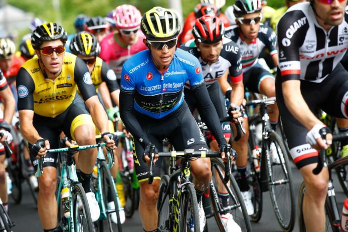 Johan Esteban Chaves op de Monte Zoncolan tijdens de Giro d'Italia.