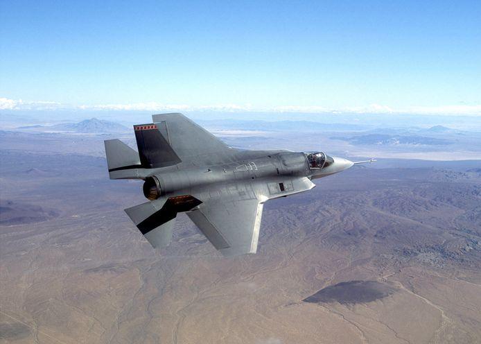 Een vliegtuig van het bedrijf Northrop Grumman, ontwikkelaar van de NF-5.