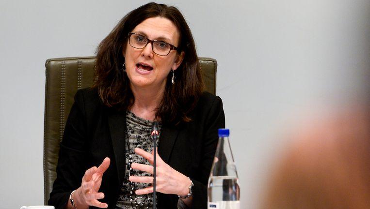 EU-Commissaris voor Handel Cecilia Malström. Beeld BELGA